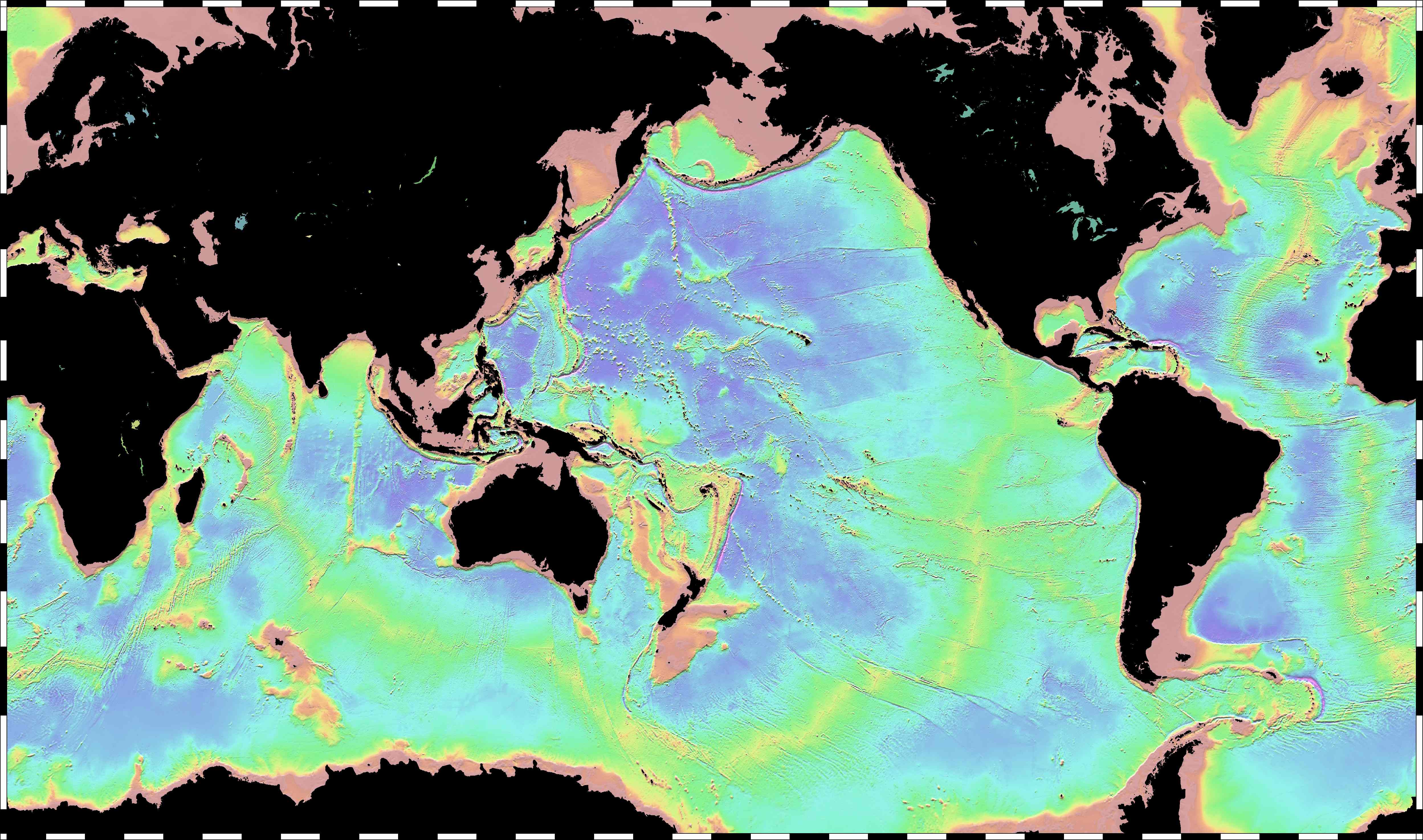 Global Bathymetry Map