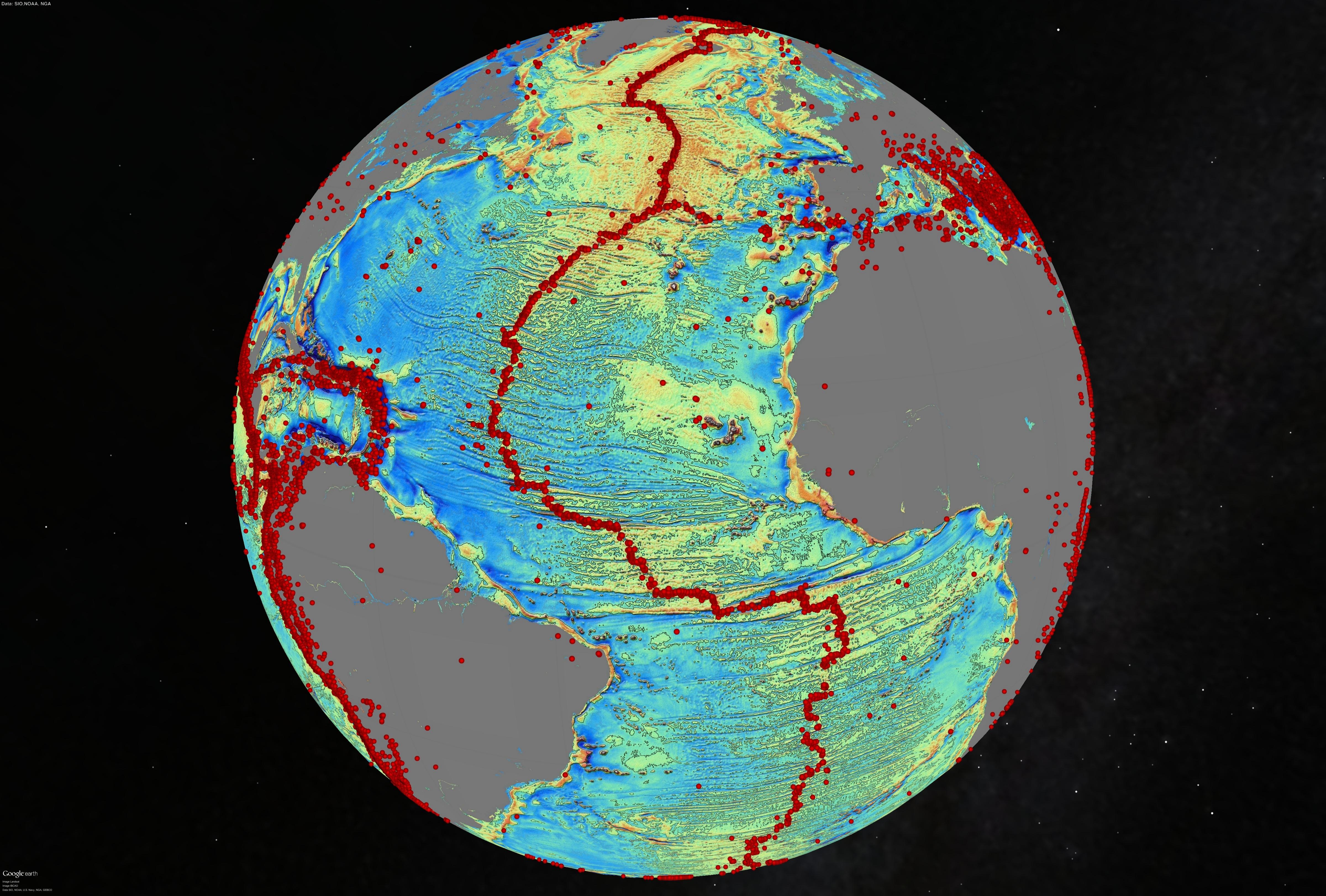 Worksheet. Marine Gravity from Satellite Altimetry